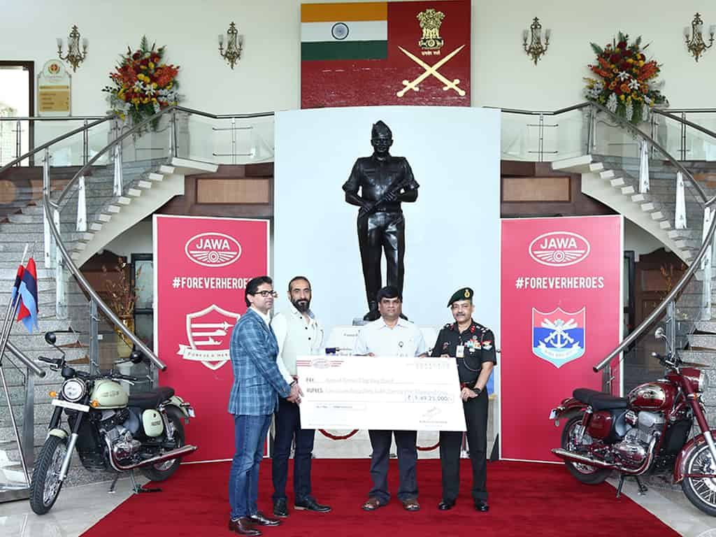 Jawa Motorcycles raised Rs 1.49 crore through its #ForeverHeroes initiative