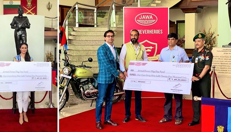 Jawa Donates INR 1.49 Crore To Armed Forces Flag Day Fund